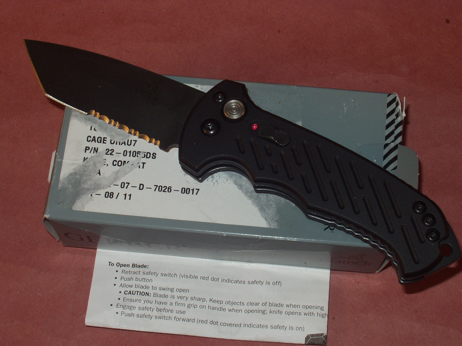 High Adventure Outfitters Gerber 06 Tanto Tip Auto Knife